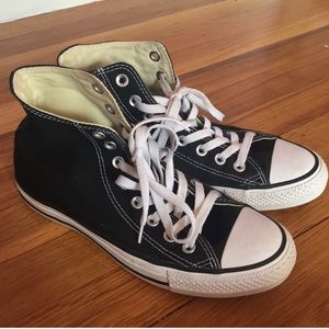 Black high top converses